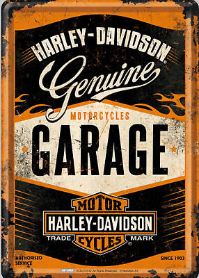 "Harley Davidson GENUINE 10x8/"" Retro Vintage Metal Advertising Sign Wall Art Pic"