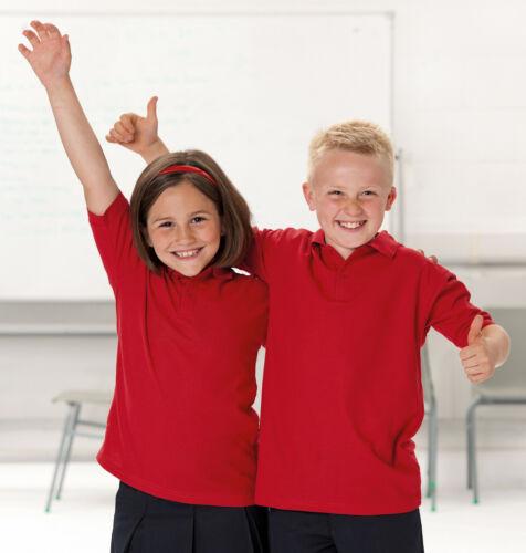 Jerzees J539B Bambini Ragazzi Ragazze Pianura PE School Uniform Polo Shirt Top