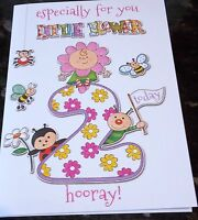 Girl's 2nd Birthday card by Eclipse cards. 30 available - Multi Listing