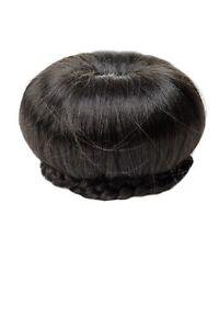 Wig-Me-Up-Pieza-de-Pelo-Bollo-Mono-Serie-50-60er-Vintage-Negro-N372-2