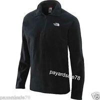 Men's The North Face 1/4 Zip Fleece Glacier Jacket Black Pullover Size Large