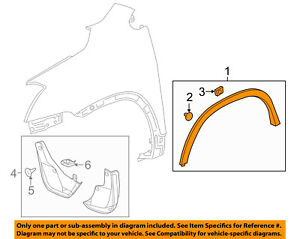 Chevrolet GM OEM-Front Fender Flare Wheel Well Arch Molding Right 30025192