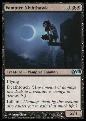 MAGIC VAMPIRO FALCO NOTTURNO MTG VAMPIRE NIGHTHAWK EXC M13