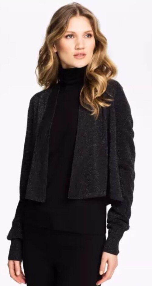 42f15a1efc3 MEDIUM NWT Eileen Fisher Charcoal Fine Merino Cardigan Sweater Crop  Shimmering nxzvjy1792-Jumpers   Cardigans