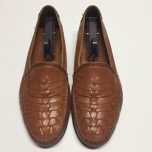 aae8090dd61 BRAGANO BY COLE HAAN BROWN WOVEN LEATHER DRIVER LOAFER - Size 9 M ...
