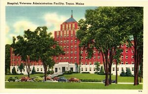 Vintage Postcard - Hospital Veterans Administration Facility Togus Maine #1836