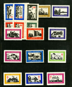 German-Colonies-Early-Mint-Tuberculosis-Lot-of-19-Poster-Stamps