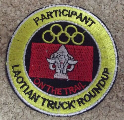 US Vietnam Participant Laotian truck roundup on the trail Ecusson//patch