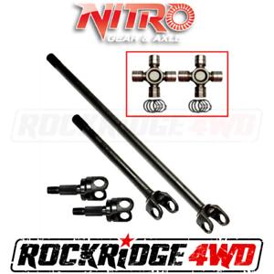Nitro 4340 Chromoly Front Axle Kit Dana 44 07-18 Jeep JK