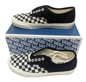 Vans Vault Mens US 11 UK 10 Black Checkerboard OG Authentic LX ...