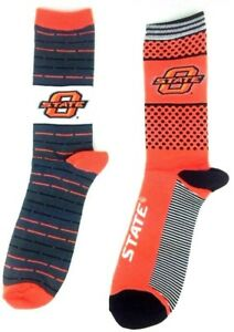 Oklahoma-State-Cowboys-NCAA-Two-Pack-Crew-Socks-Orange-Black-Gray-Orange