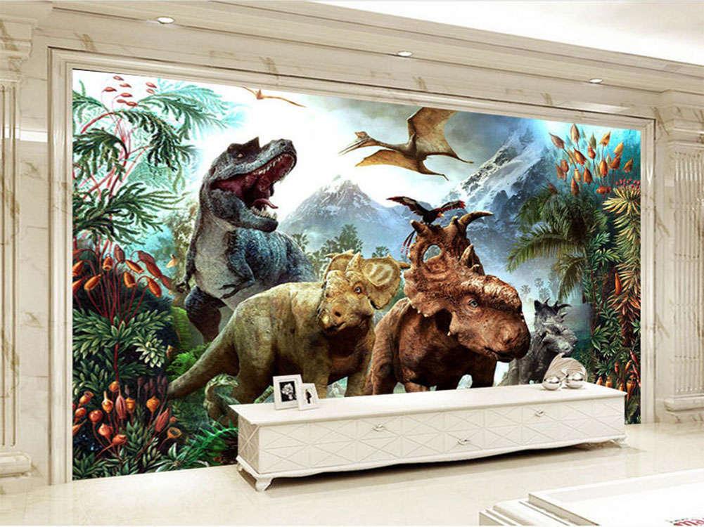 Gorgeous Jurassic Park 3D Full Wall Mural Photo Wallpaper Printing Home Kids Dec