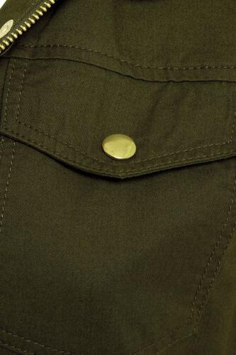 New Womens Sleeveless Waistcoat Jacket Ladies Utility Trench Size 8 10 12 14 16