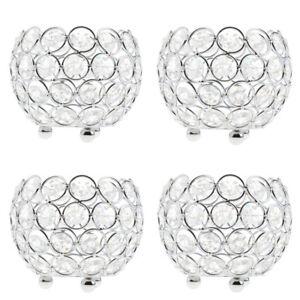 4x-Crystal-Candelabra-Wedding-Centerpiece-3-039-039-Votive-Tealight-Candle-Holders