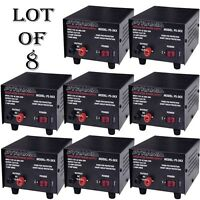 8 Lot) Pyramid Ps3kx 3amp 12volt Dc Power Supply For Phones Cb Ham Radio Scanner on sale
