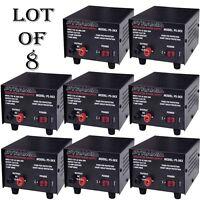 8 Lot) Pyramid Ps3kx 3amp 12volt Dc Power Supply For Phones Cb Ham Radio Scanner on Sale
