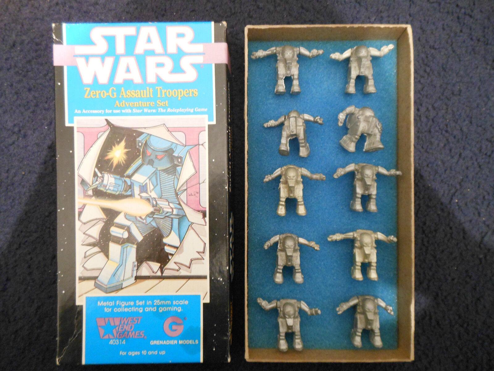 1990 Zero G asalto Troopers Granadero West End Games Star Wars Set 40314 En Caja