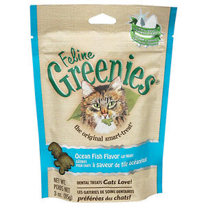 Feline-Greenies-for-Cat-2-5-oz-to-3-oz-5-Flavors-Reduce-tartar-amp-plaque