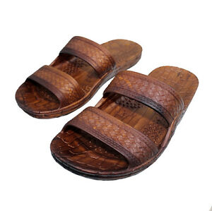 80dd2402d3928a Image is loading Imperial-Hawaii-Brown-Rubber-Jesus-Sandals-Classic-Jandals-