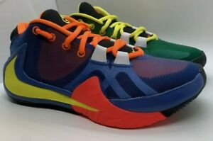 Nike-Giannis-Zoom-Freak-1-What-The-Multi-Green-Yellow-Red-4-5Y-6-W-039-s-CT8476-800