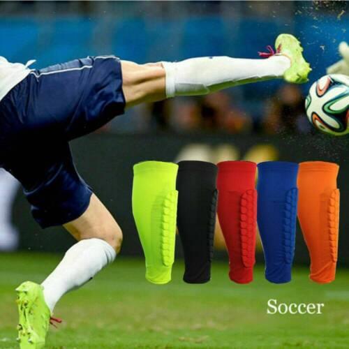 1Pcs Men Football Shin Guards Protective Soccer Pads Leg Basketball Training