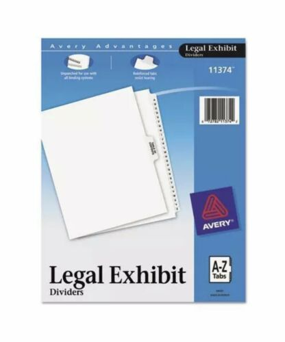 Avery® 11374 Premium Collated Legal Index Exhibit Dividers A-Z New Sealed