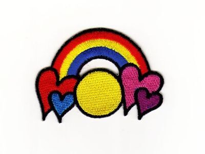 8,8 x 8,8 cm bunt Aufnäher // Bügelbild Stern regenbogen Kinder