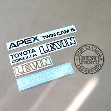 AE86 TOYOTA COROLLA LEVIN APEX TWIN CAM 16, decal, sticker, vinyl, set, kit