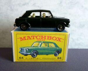 Matchbox-Lesney-No-64b-mg-1100-Pintado-Connaught-Verde-Y-Caja