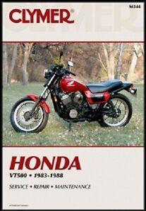 clymer service manual honda ascot vt500ft 1983 1984 shadow vt500c rh ebay com 1983 honda shadow vt500 manual honda shadow vt500c manual