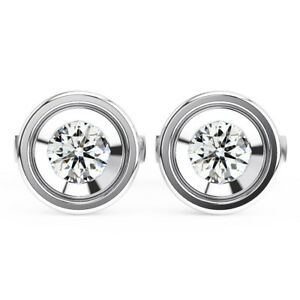 820bfdeed 0.20CT Flush Set Round Diamond Stud Earrings Available in Platinum ...