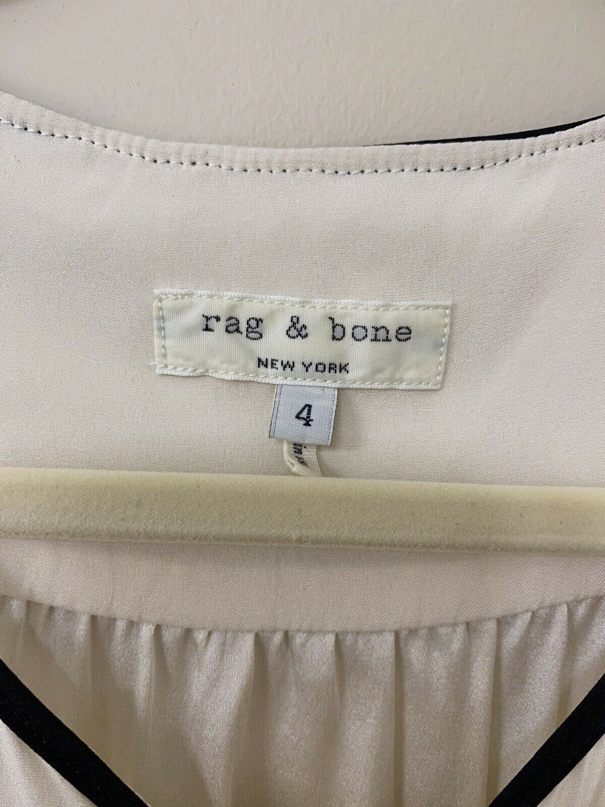 RAG AND BONE SILK BLOUSE - MADE IN USA - WHITE - … - image 3