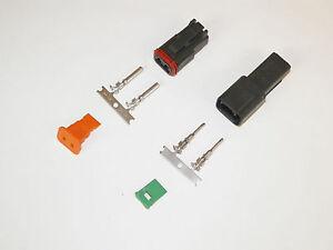 12X BLACK DEUTSCH DT SERIES CONNECTOR SET 16-18-20 GA STAMPED NICKEL TERMINALS