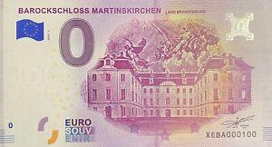 BILLET 0  EURO  BAROCKSCHLOSS MARTINSKIRCHEN  ALLEMAGNE 2018 NUMERO 100