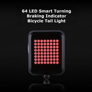 LED Bicycle Bike Front Rear Turn Signal Lights Back Tail Lamp USB Rechargeable