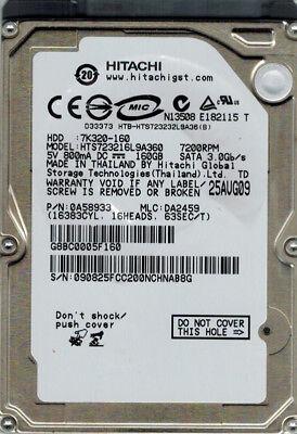 0A58934 MLC Hitachi HTS723220L9A360 200GB P//N DA2459