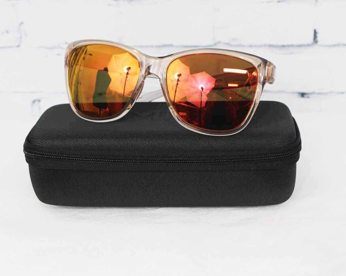 New Smith Ramona Sunglasses Desert Crystal Smoke ChromaPop Sun rot Mirror Lens