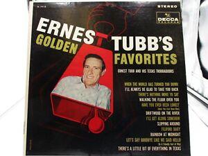 Ernest Tubb's Golden Favorites LP - Decca 74118 VG+ cover VG+