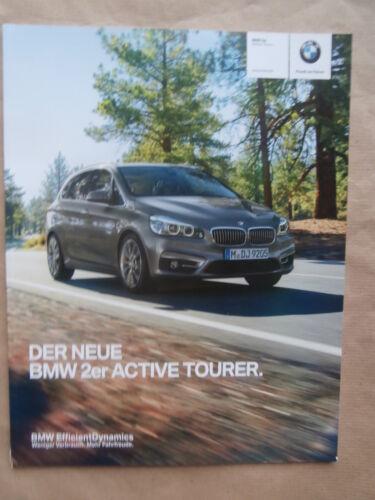 BMW 2er activetourer f45 218i 220i 225i 216d 218d 220d 9//2014 brochure catalogue
