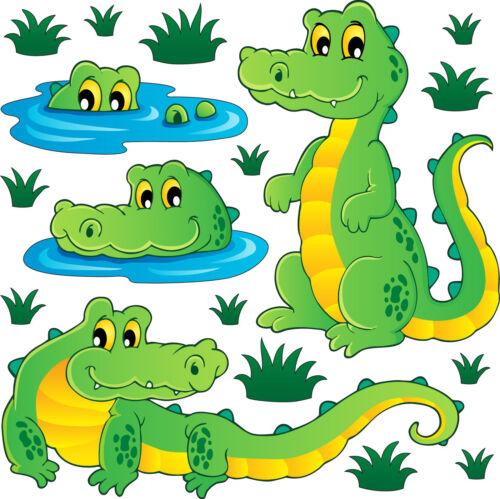 12 dimensions Stickers kit enfant planche de stickers Crocodiles réf 3720