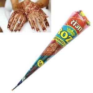 30g-braune-Farbe-Henna-Cones-temporaere-Tattoo-Salbe-Koerperbemalung-R6E2