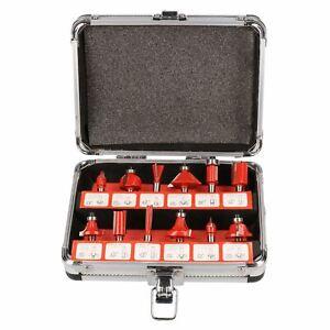 12pc Carbure De Tungstène Astuce Tct Router Bit Set Avec Queue De 1/4 Cutter Stratifié-afficher Le Titre D'origine