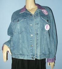 """SIZE XL WOMEN'S , L MEN'S  DENIM JEAN JACKET, CUSTOMIZED """"RELAY FOR LIFE"""" CANCER"""