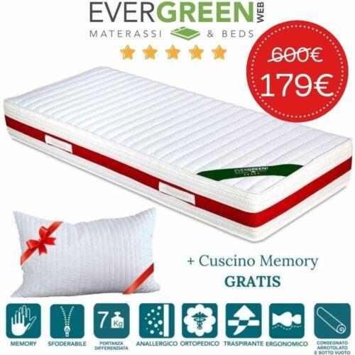free pillows Evergreenweb ✅ Memory Foam Mattress Massage High 22 cm