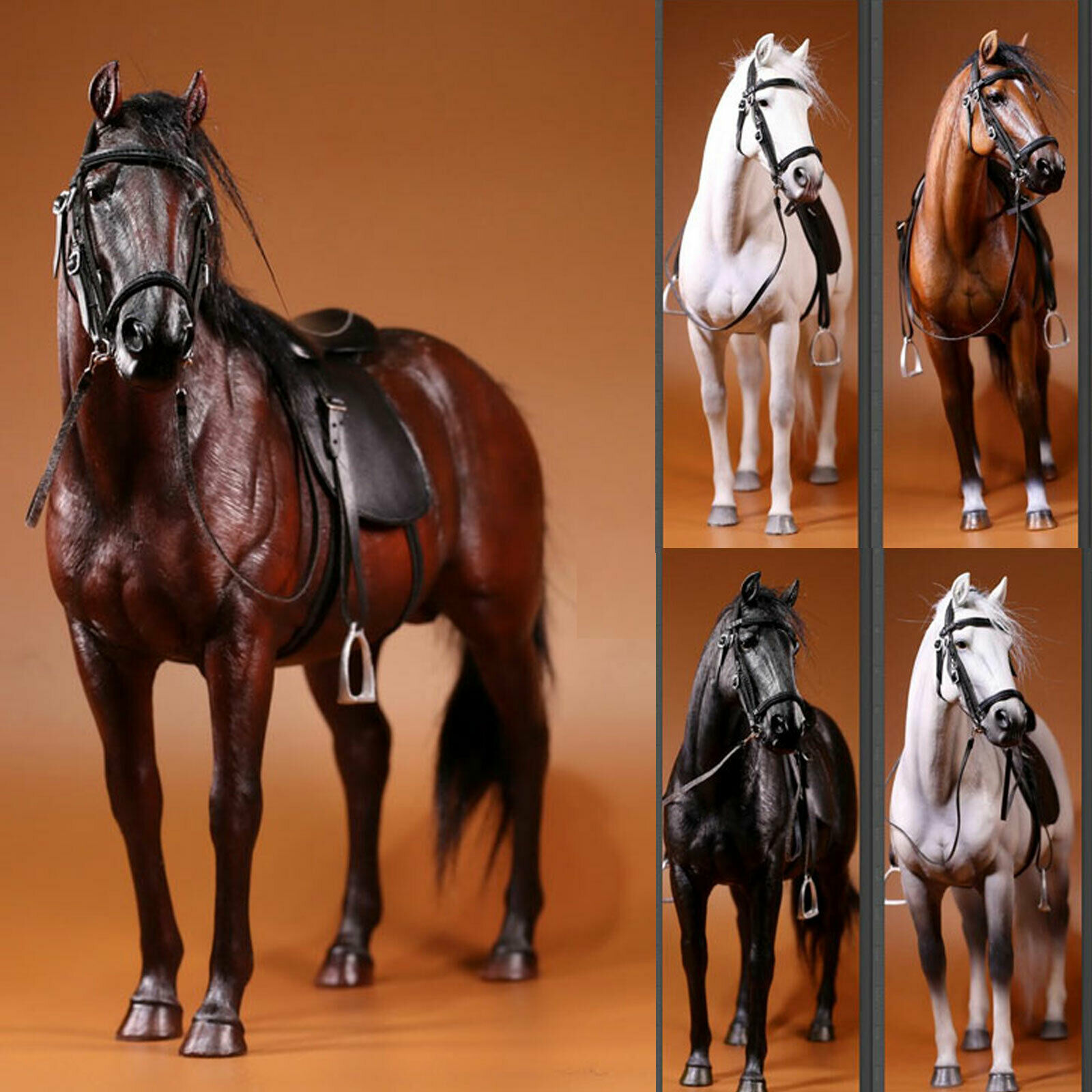 1 6 Scale Mr.Z Animal Simulation Toys Hanoveria Horse Resin Figure 5 color Model