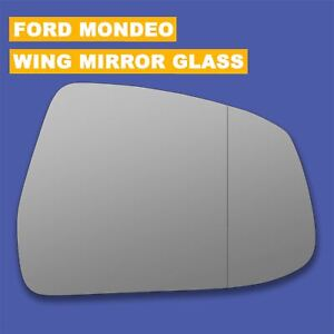 Ford Mondeo Mk4 Hatchback 2011-2015 Heated Aspherical Mirror Glass Drivers Side