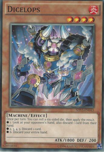 DICELOPS SHVI-EN043 YU-GI-OH CARD