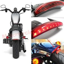 12V LED Motorcycle Bobber Turn Signals Brake License Plate Tail Light For Harley