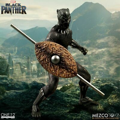 One:12 Collectif Marvel Black Panther 1:12 Scale Figure by Mezco en Stock