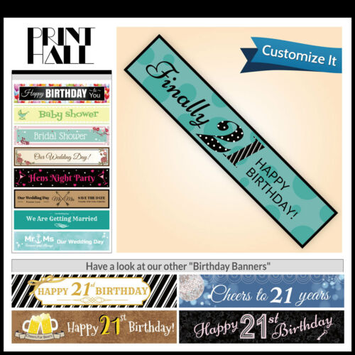 HOT 18th Birthday Decorations /& Supplies Flag Fabric Party Banner CUSTOMISE